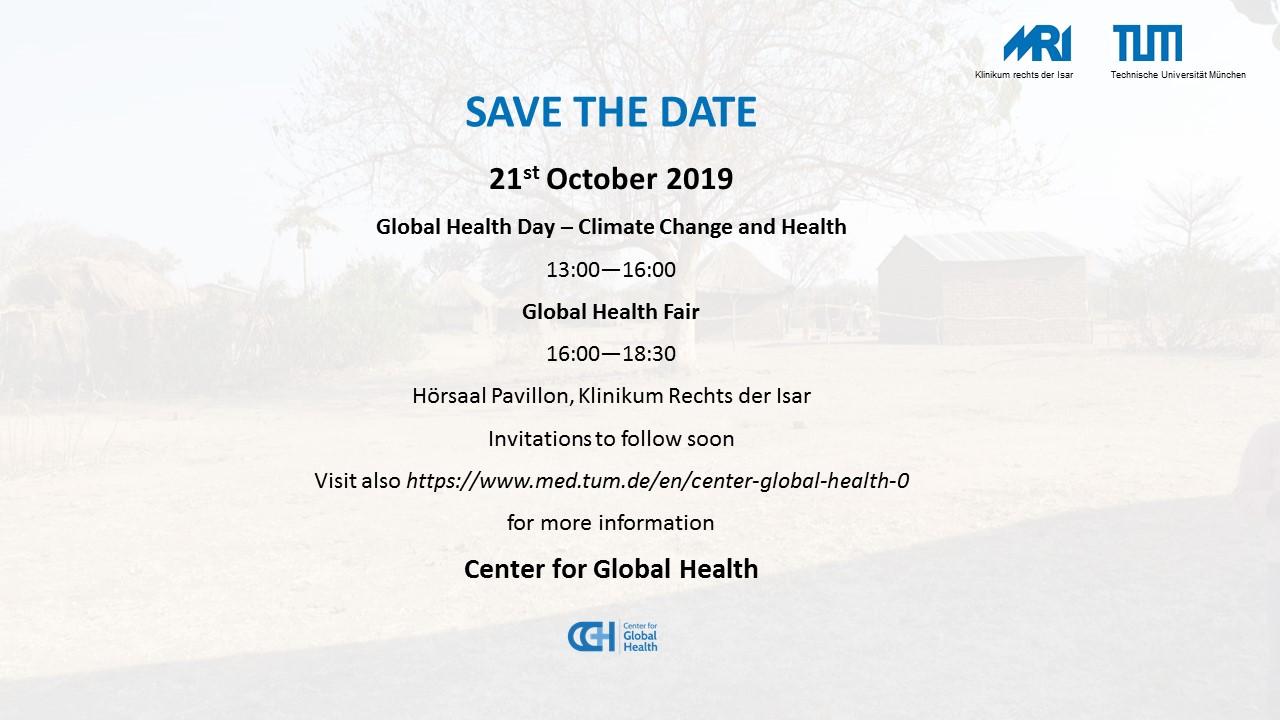Center for Global Health | TUM Fakultät für Medizin
